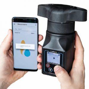 Vlhkoměr obilí digitální C-PRO s integrovaným mlýnkem pro spojení s chytrým telefonem pro 30 plodin